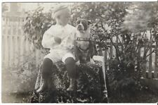 Pit Bull Rppc Of A Young Boy And His Muscular Fancy Harnessed Pit Bull