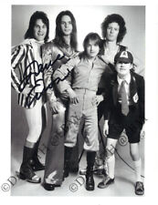 AC/DC Photo DAVE EVANS Singer 1973/4 Can I Sit Next To You Girl Autograph SIGNED