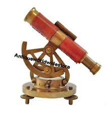 ALIDADE TELESCOPE WITH COMPASS NAUTICAL BRASS MARINE COLLECTIBLE