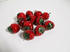 12 x Künstliche Erdbeeren wie echt Theke Deko Obst Erdbeere künstlich Dekoobst