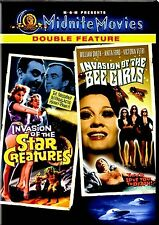 NEW MIDNITE MOVIES DVD / INVASION OF THE BEE GIRLS + INVASION OF STAR CREATURES