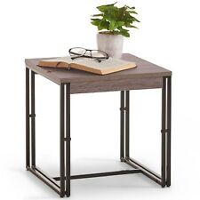 VonHaus Rustic End Side Table Modern Industrial Nightstand Bedside Table