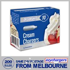 DREAMWHIP CREAM BULBS 10 PACK X 20 (200 CHARGERS) WHIPPER NITROUS OXIDE N2O