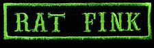 Rat Fink patch badge Hot Rod Motorcycle Jacket Vest Novelty Tattoo black green