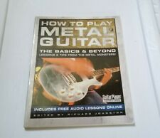 HOW TO PLAY HEAVY METAL ROCK GUITAR BASICS & BEYOND LESSONS+TIPS BOOK