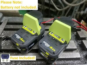 Ryobi One+ 18V Li-ion Battery Output Adapter DIY Power Wheel Conversion FUSED
