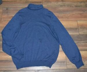 Croft & Barrow Light Weight turtle Neck Pullover Sweater Blue Size Large