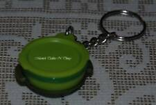 TUPPERWARE GREEN MICROSTEAMER SMALL KEYCHAIN KEYRING