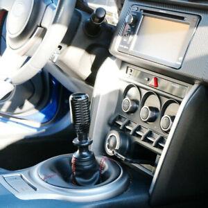Universal Glossy Black Real Carbon Fiber Car Gear Shift Lever Knob Accessories