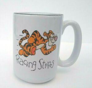 "Authentic Walt Disney World Tigger Racing Stripes Coffee Mug Cup 4-1/2"" x 3-1/4"""