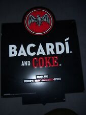 Metal Tin Sign Bacardi Rum Bat & coke sign