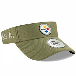 Pittsburgh Steelers New Era Salute To Service Adjustable Visor Cap Hat $30