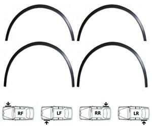 Extensions d'aile Noir mat 4 pièces sport style kit AUDI A8 D3 année 2004-2010
