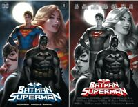 BATMAN SUPERMAN #1 WARREN LOUW EXCLUSIVE VARIANT COVER A AND B SET