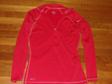 Nike Pro Dri-Fit 1/2 Zip Long Sleeve Pullover Jersey Womens Medium Excellent