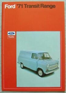 FORD TRANSIT VANS Sales Brochure Jan 1971 #FB285 Kombi CREWBUS Chassis Cab BUS