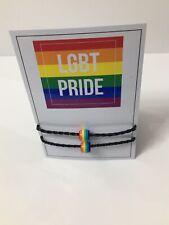 2Pcs/Set Pulsera de Abalorios Mixtos Arco Iris Rainbow LGBT relación de amistad