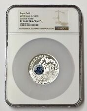 2018 Cook Island $10 Royal Delft Land Of Water 50 Grams Silver NGC PF 70 Pop (1)