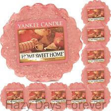 10 Yankee Bougie Tartes de cire Home Sweet Home Free p&p Cannelle, épices et thé