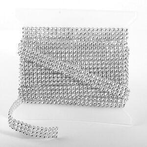 Imitación Diamante Diamante Cinta Boda Detalle 1.5cm X 5m Rollo