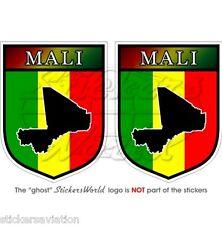 """MALI Africa, Scudi Maliani Africani Adesivi in Vinile 75mm (3"""") Stickers x2"""