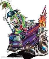 Monster Express Sticker Decal Art Von Franco VF33 Roth Like
