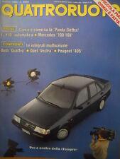 Quattroruote 413 1990 - test Audi Quattro - Opel Vectra Peugeot 405   [Q43]