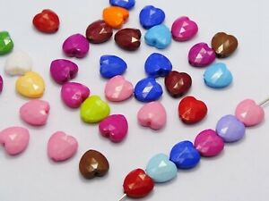 Craft DIY 100 Mixed Bright Color Acrylic Handle Charm Beads