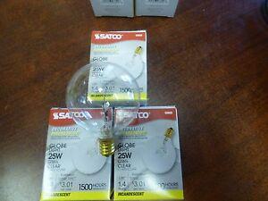3 THREE SATCO 25 watt Light Bulbs Fits Full Size Scentsy Warmers FREE SHIP