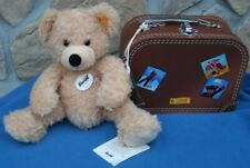 STEIFF FYNN BEAR WITH TRAVEL CASE UNPLAYED WITH HAS TAGS ADORABLE LITTLE SET!!!!