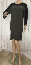 Gerard Darel Femmes Robe Taille 8 Clous Manches 3/4 Neuf Rrp £ 185