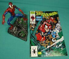 Marvel Legends Series II Classic Spider-Man Lizard Wall Display Stand Comic Book