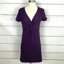 Soybu Purple Short Sleeve Dress Size Medium V Neck Short Sleeve Casual Stretch