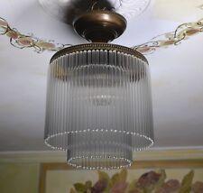Sospensione Vetro Lampadario Lampada Vintage Design Ottone Luce Soffitto Deco