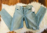 NEW Joe's blue Women's Size 24 Charlie High Rise Skinny ankle Jeans denim ripped