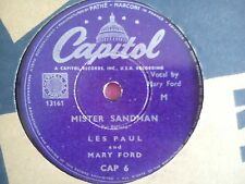 78 Tours LES PAUL AND MARY FORD-MISTER SANDMAN/THAT'S WHAT I LIKE