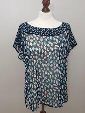 M&S Portfolio UK 18 Ladies Sheer Short Sleeve Blouse Women's Spring Summer Top