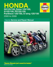 4873 Haynes Honda 125 Scooters (SH, SES, NES, PES & FES 125) Workshop Manual