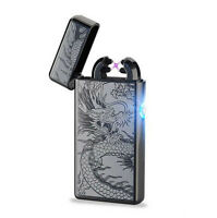 Electric LIGHTER Double ARC PULSE Flameless Plasma Clipper USB Rechargeable UK