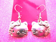 Hello Kitty Cat Dangle Earrings