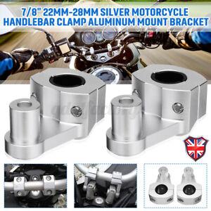2pcs Universal Motorcycle HandleBar Handle Fat Bar Mount Clamps Riser 7/8'' 22mm