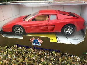 1:18 Ferrari 512 Testarossa 1984 Red over Tan Bburago Burago Opening Model Car