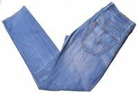 LEVI'S Mens 504 Jeans W33 L34 Blue Cotton Straight  E208