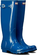 Hunter Women's Original Tour Foldable Gloss Tall Rain Boots NWOB