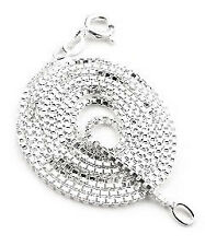 """Childs Sterling Silver 14"""" Inch Box Link Chain Necklace"""