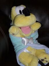 "Pluto Plush with Blanket 10"" Babies Disney World Parks"