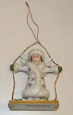 P. Schifferl ~Midwest~ White Angel on Swing Christmas Ornament / Figure Pam