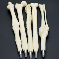 Black Refill Ball Point Pen Bone Shape Nurse Doctor Student Stationery Gift 1PC