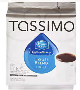 MAXWELL HOUSE HOUSE BLEND Coffee T DISCS Tassimo Beverage System 16 Count