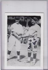 signed photo Waite Hoyt his personal photo with typed description on back  w/COA